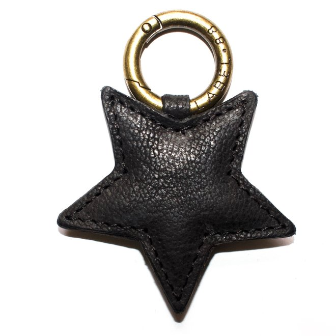 Star S keychain, black