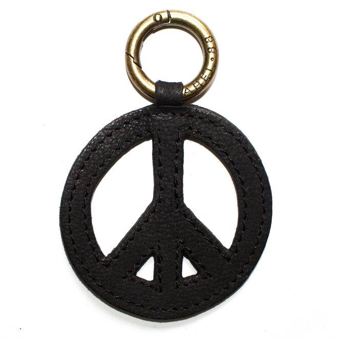 Peace sleutelhanger, zwart