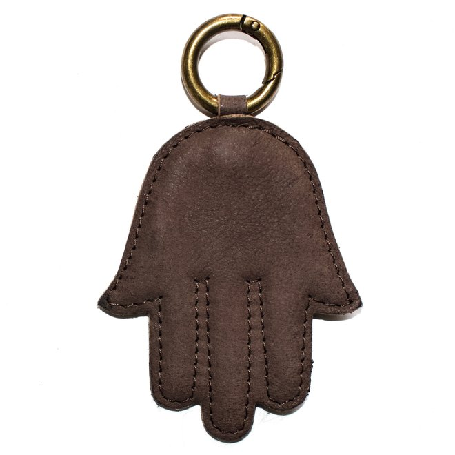Fatima hand keychain, brown
