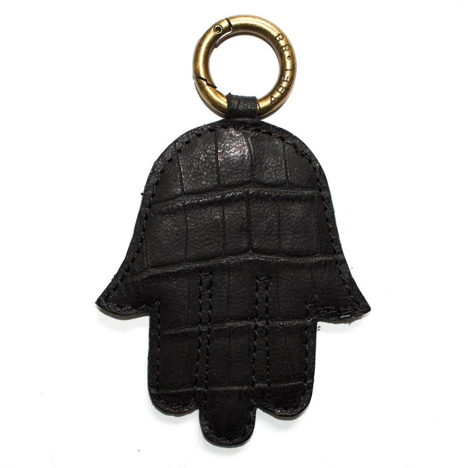 Fatima handje sleutelhanger, zwart croco