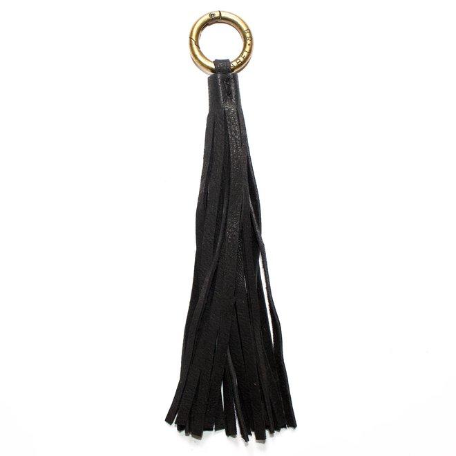 Tassel keychain, black