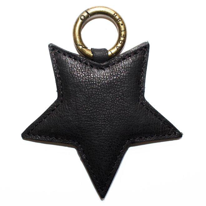 Ster L sleutelhanger, zwart