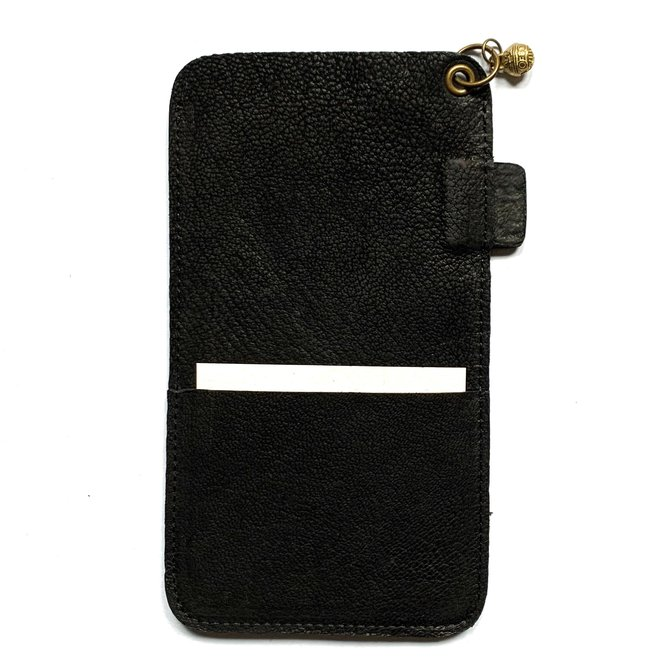 Miami XR phone cover, black leather