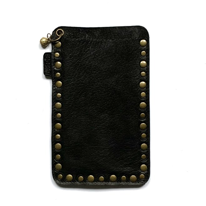 Miami XR Studs phone cover, black leather