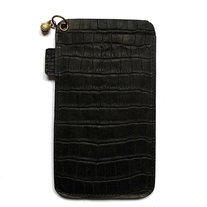 Miami XR phone cover, black croco leather