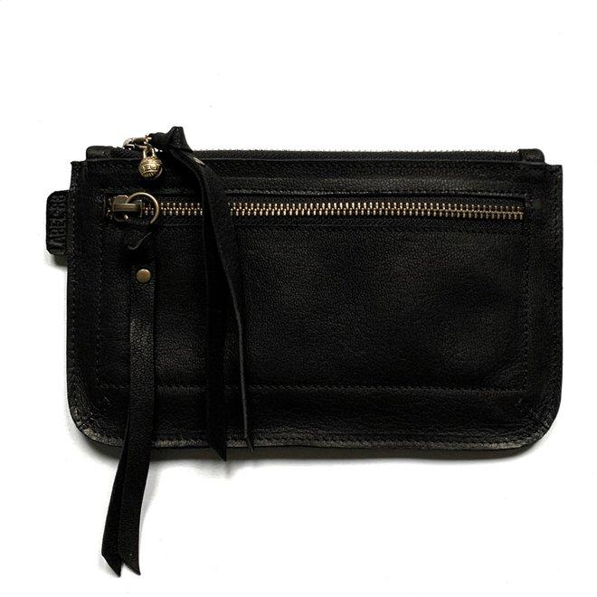 Beijing Zipper keycordbag, black leather