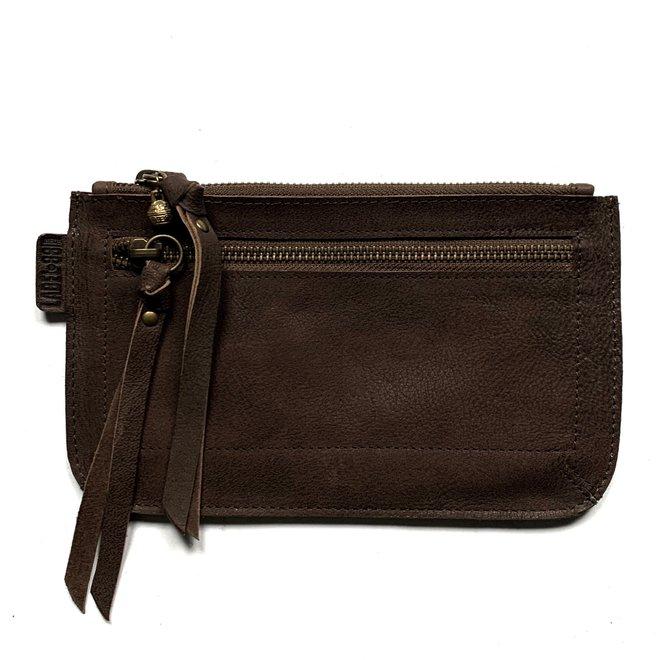 Beijing Zipper keycordbag, brown  leather