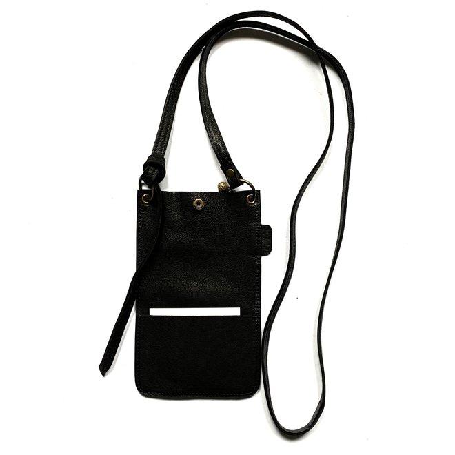 PhoneBag Miami XR, black leather
