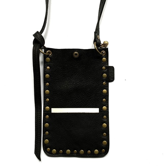 Phonebag, Miami XR Studs, black leather
