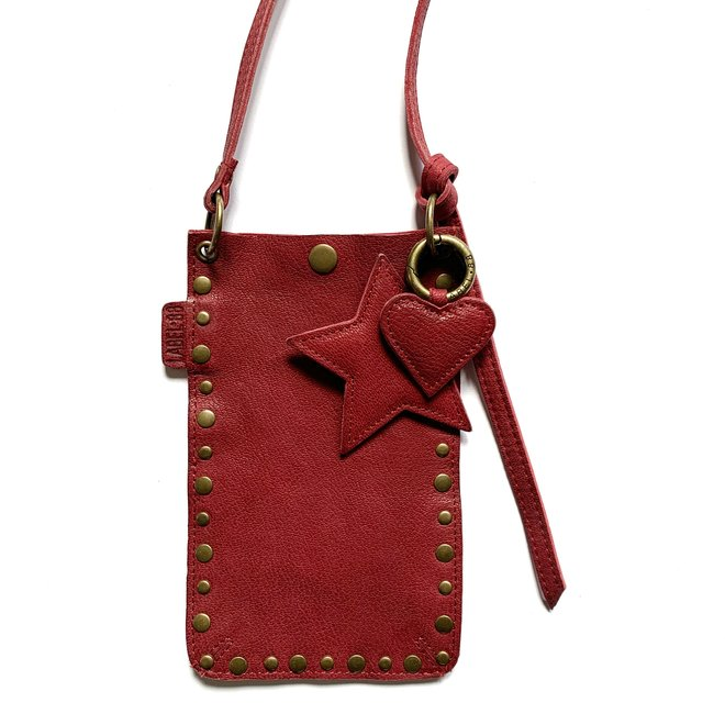Phonebag, Miami XR Studs, dark red leather