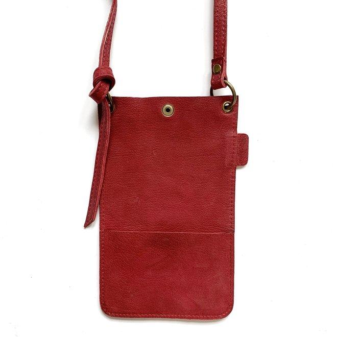 Miami XR phonebag, dark red leather