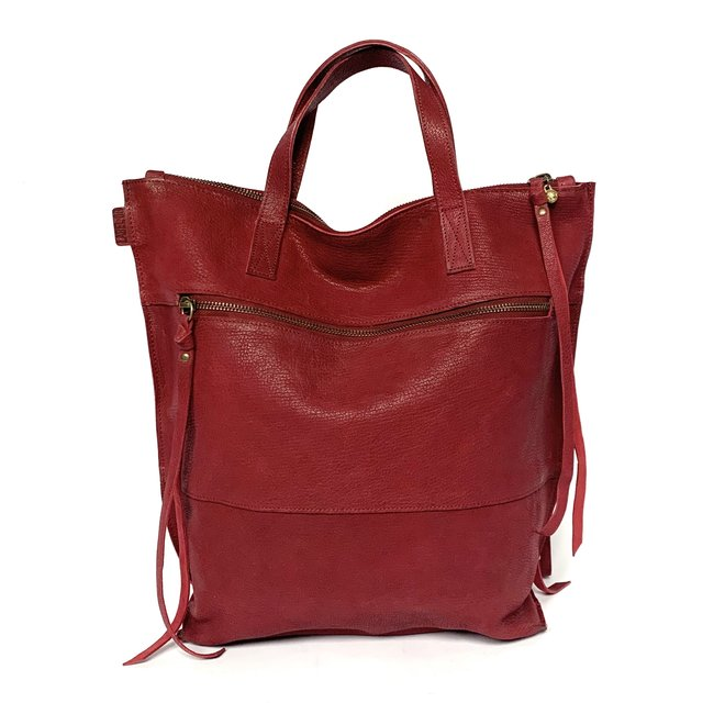 Backpack, dark red leather