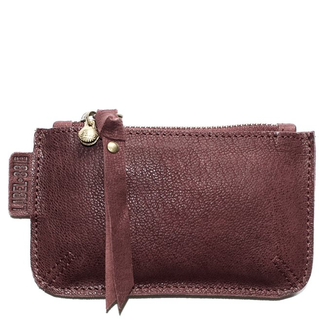 Beijing XS wallet, wine-red leather