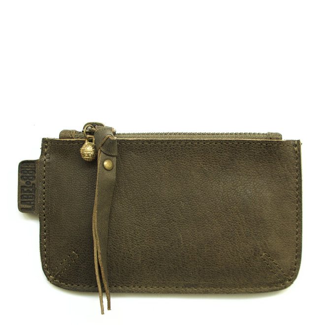 Beijing XS wallet, army green leather