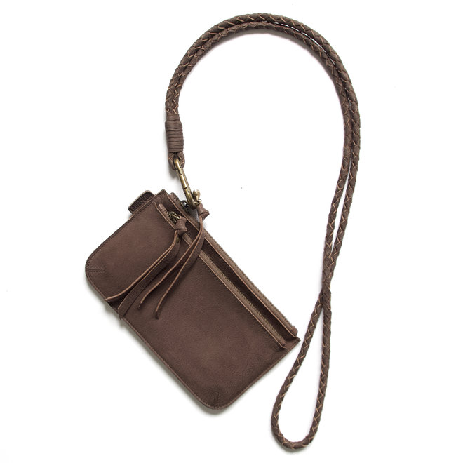 Beijing Zipper 2 keycordbag crossbody set, brown