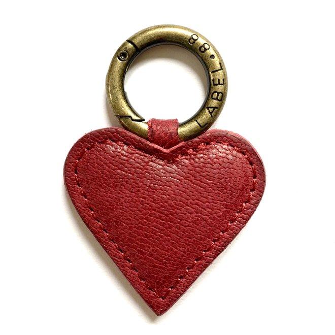 Heart S Keychain, dark red