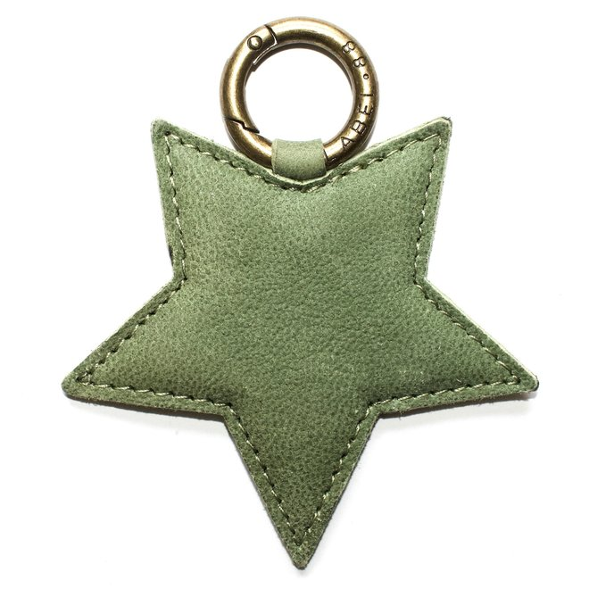 Star L keychain, light green