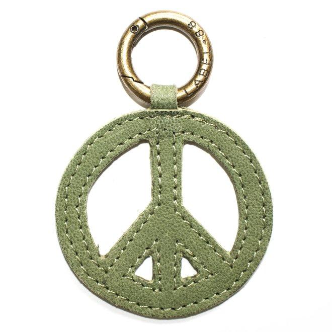 Peace sleutelhanger, licht groen