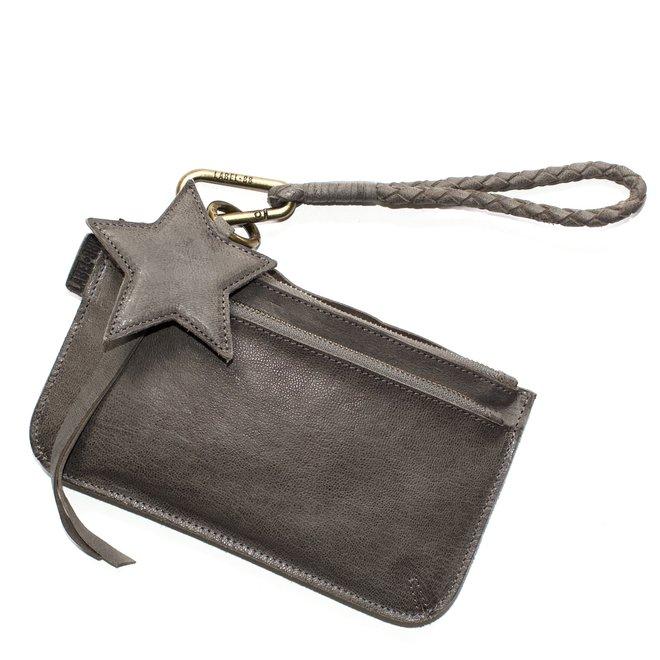 Beijing Zipper 2 keycordtas clutch set, grijs