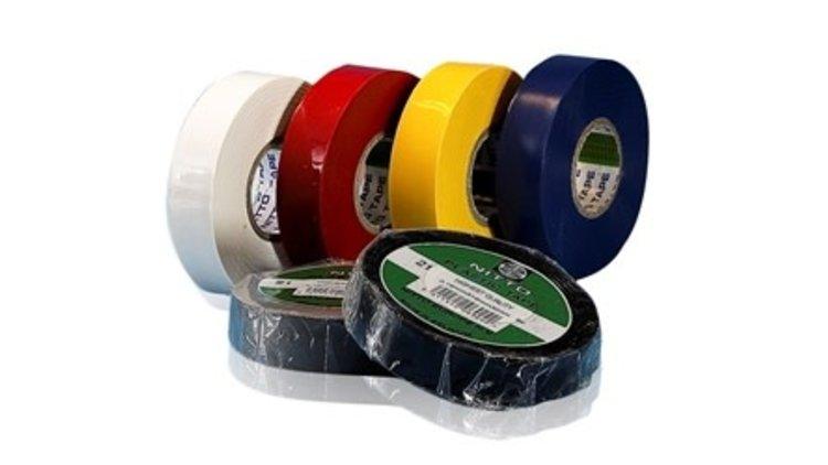 ISOLATIETAPE PVC NITTO 19MM ROL=20M GROEN/GEEL