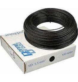 Installatiedraad VD-D bk 1,5 mm2