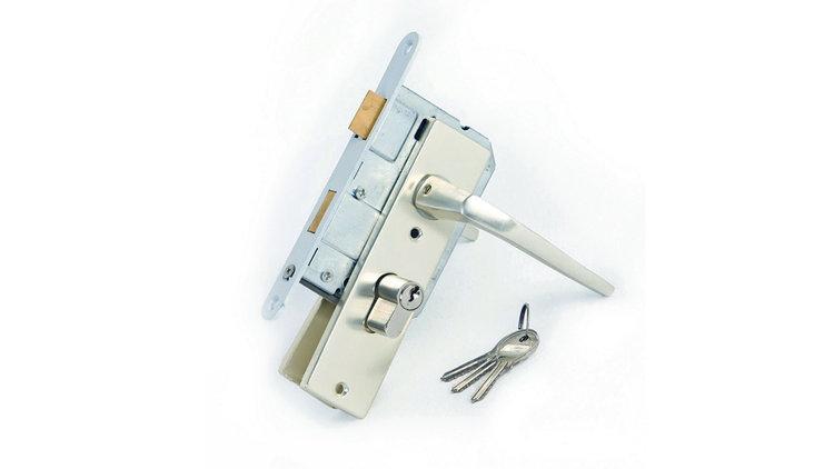 Inbouw cilinderslot incl. deurkrukken, stift en 90mm pen, diepte kast 55mm, lengte cilinder 80mm