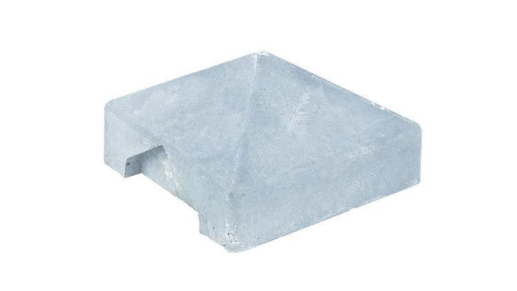 Afdekpet (Hoek-verbinding) wit / grijs voor alle palen met vlakke kop