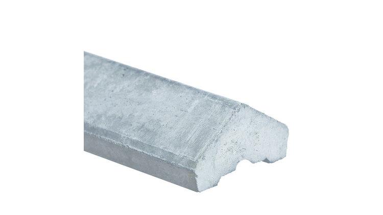 Betonafdekkap voor alle platen wit/grijs (lengte in het werk aan te passen)