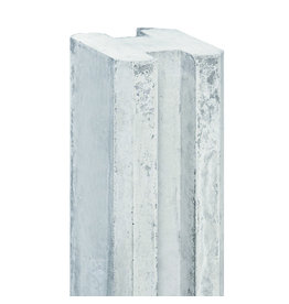 Sleuf eindpaal EXTRA DIK wit/grijs