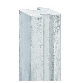 Sleuf hoekpaal EXTRA DIK wit/grijs