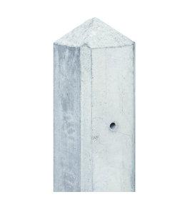 Tussenpaal wit/grijs glad met diamantkop Maas