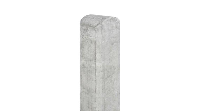 Tussenpaal wit/grijs glad met halfronde kop 180
