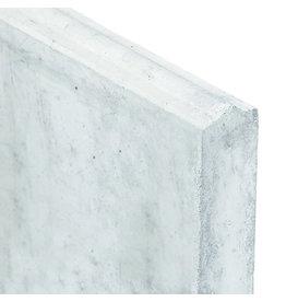 Stapelplaat wit/grijs EINDPLAAT met alleen een groef type F