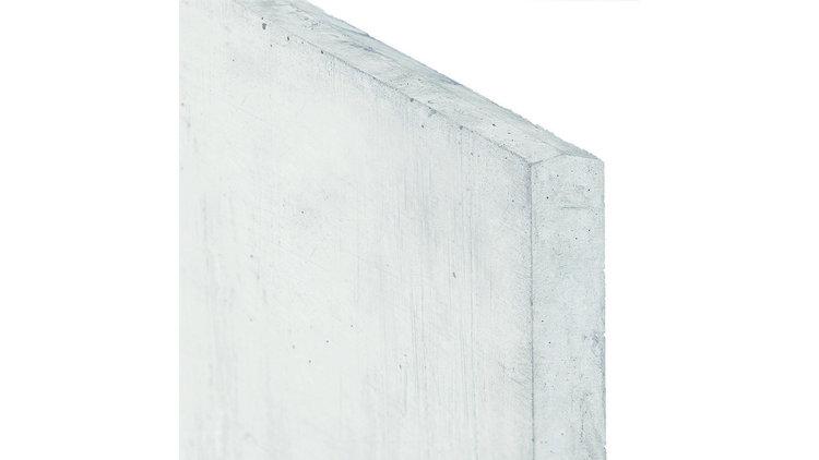 Onderplaat wit/grijs voor betonpaal type x