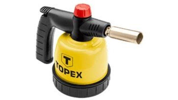 Hobby brander 44E140 Topex  Metalen middelstel. Druk regelknop. Precisie neus. Voor 190 gr. prikgasbussen. 1350 Graden