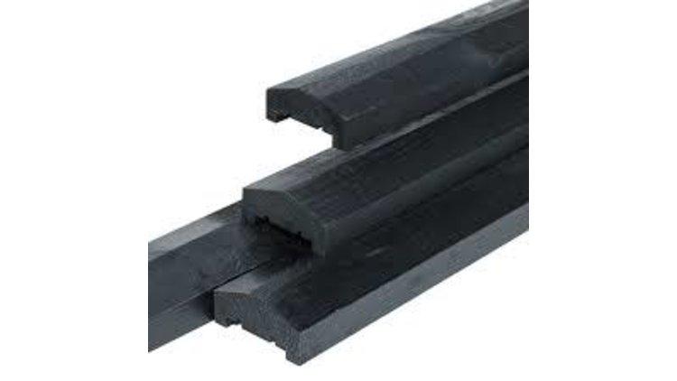 Afdeklat Zwart gespoten 180 cm 3 (planks)