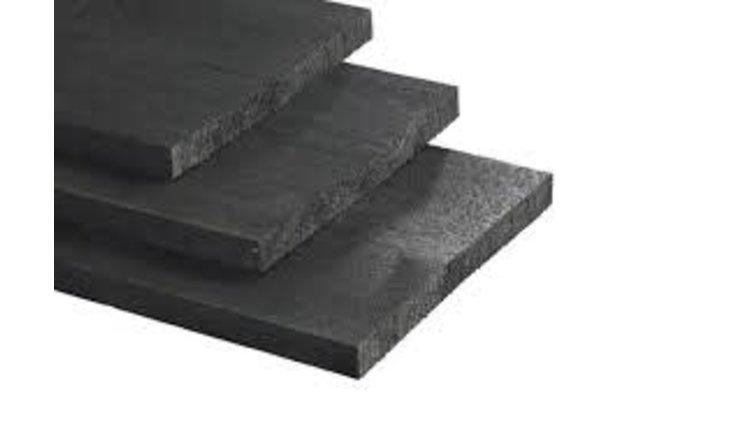 Vuren geïmpregneerd zwart gecoat  22 x 200 Lengte 360 cm