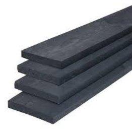 Vuren 22 x 200 fijn bezaagd Zwart geïmpregneerd 400 cm