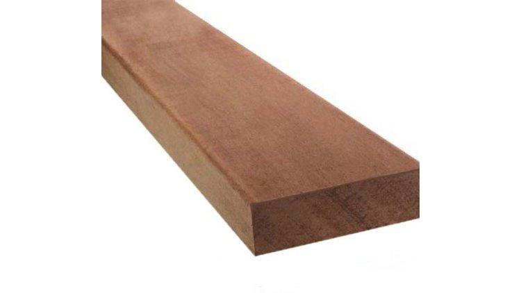 Hardhout  geschaafd 28x45mm 275cm