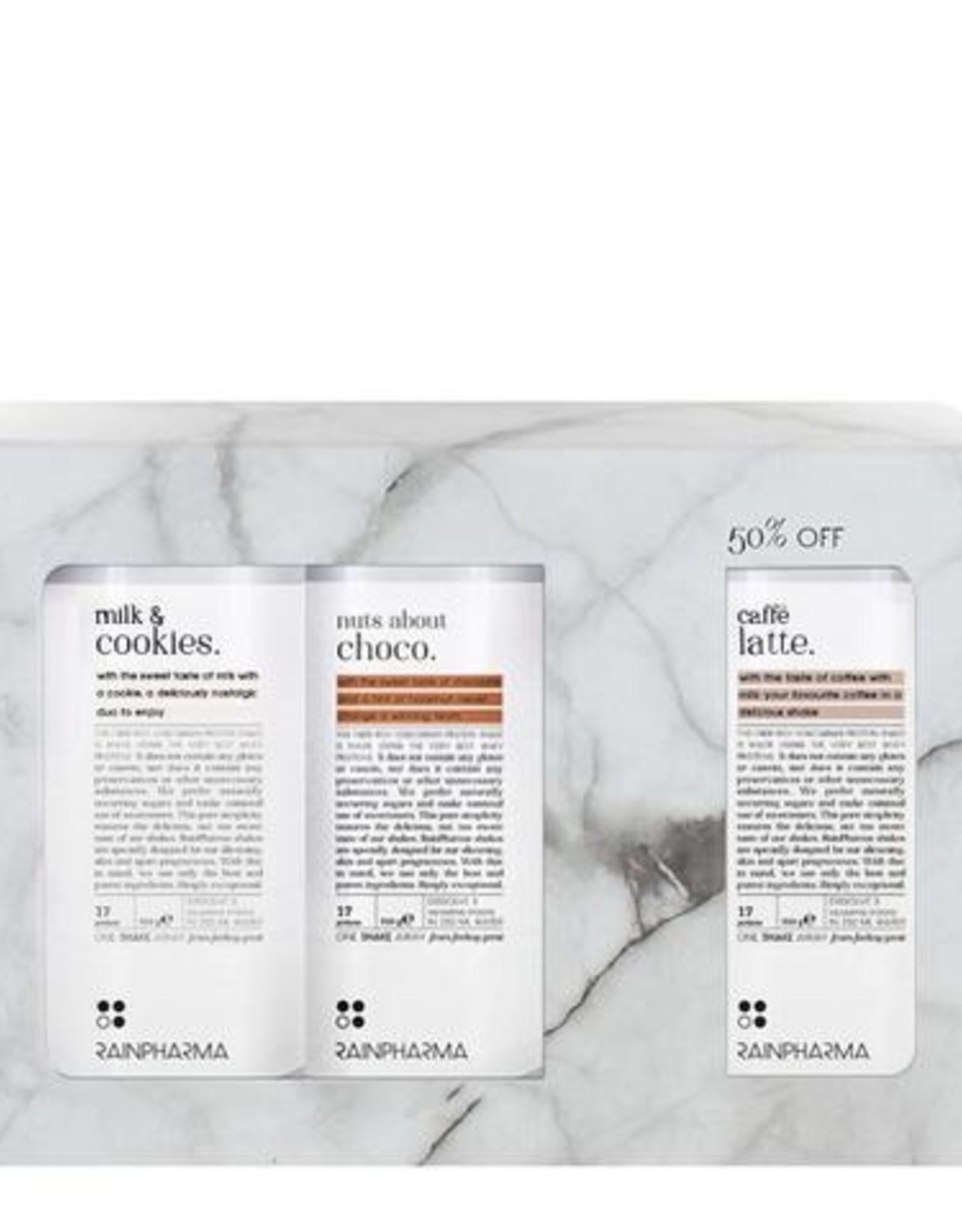 RainPharma Rainpharma - Trio Shakes - Milk&Cookies, Nuts About Choco, Caffé Latté