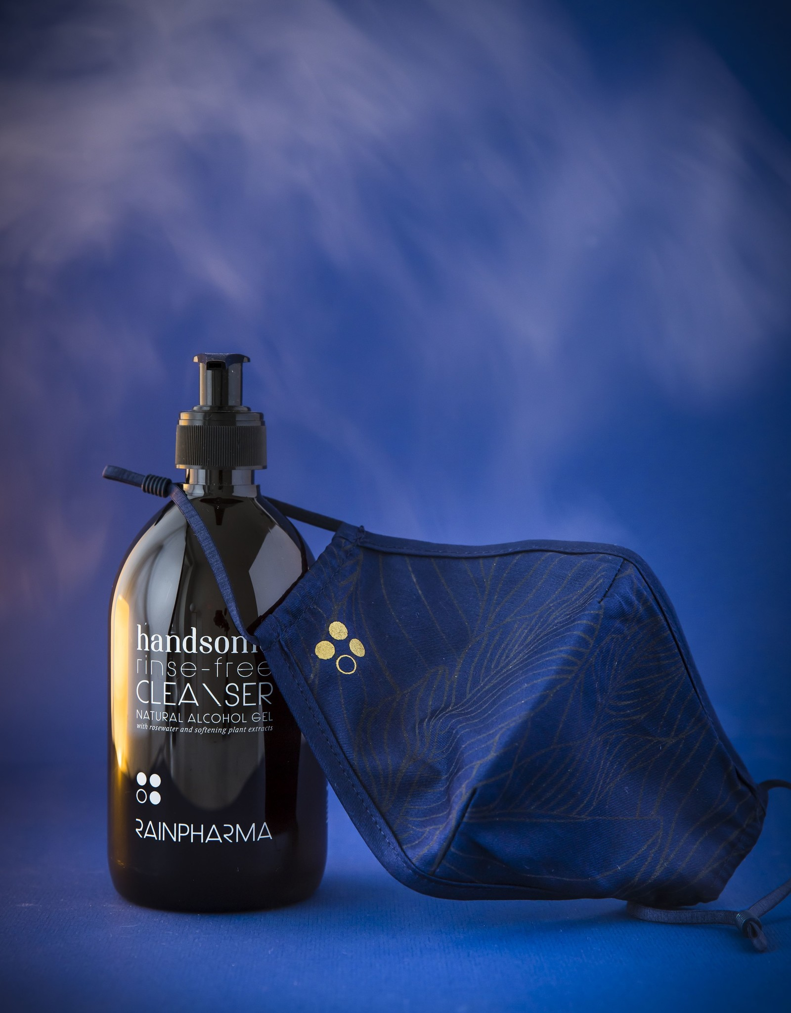 RainPharma Rainpharma - Mondmasker Winter (blauw) - 1 stuk