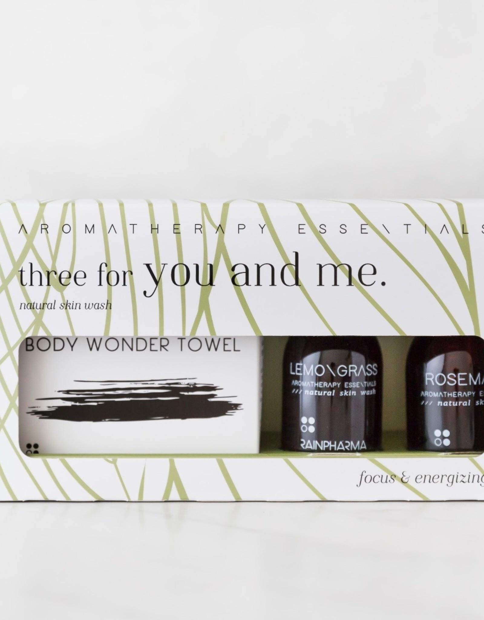 RainPharma Three For You And Me - Focus & Energizing - Lemongrass/Rosemary