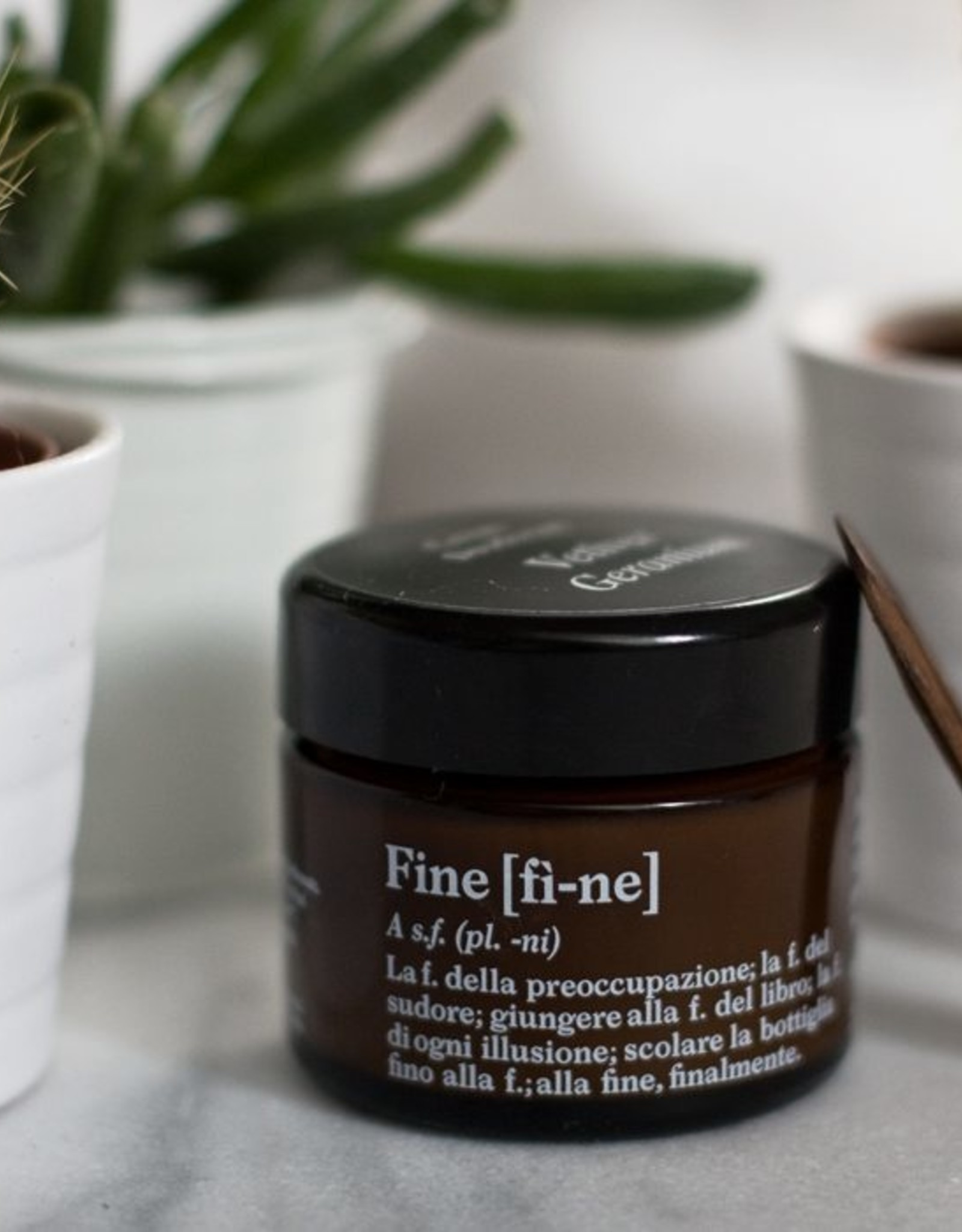 Fine Fine Deodorant Vetiver  Geranium potje