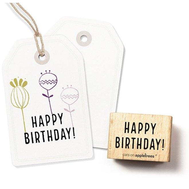 Stempel Tekst 'Happy Birthday' 1 2307