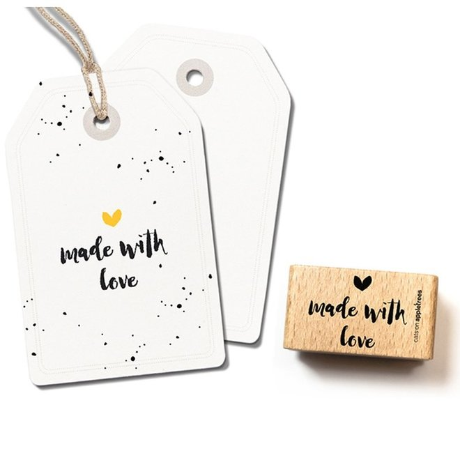 Stempel Tekst 'Made with love' 2 2393
