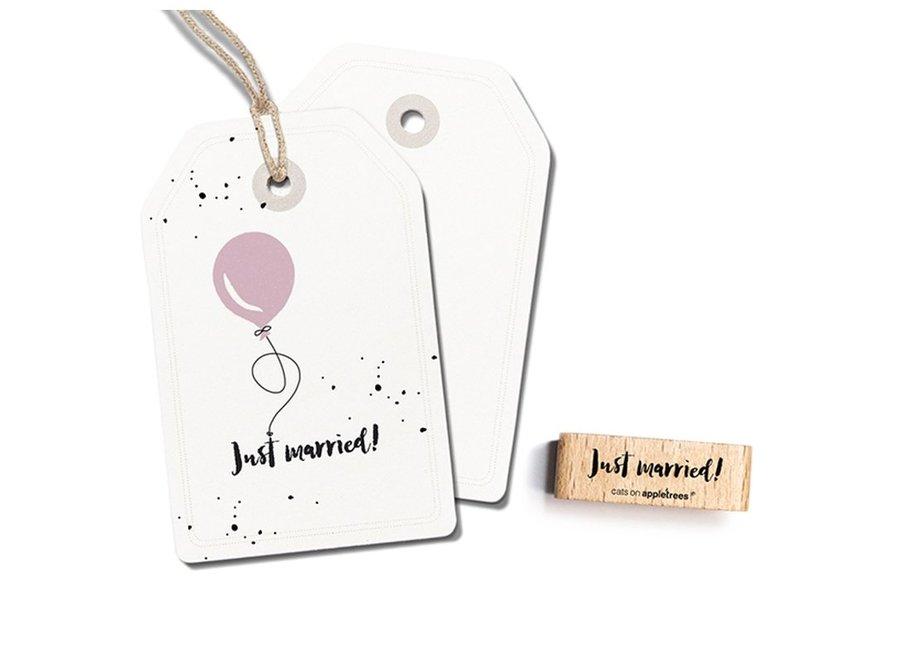 Stempel Tekst 'Just married' 2395