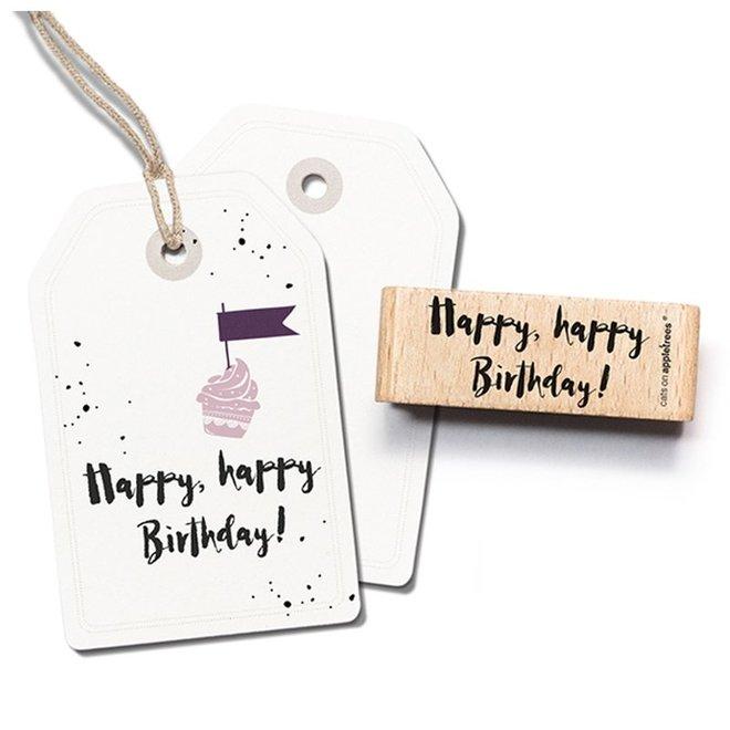 Stempel Tekst 'Happy happy birthday' 3 2396