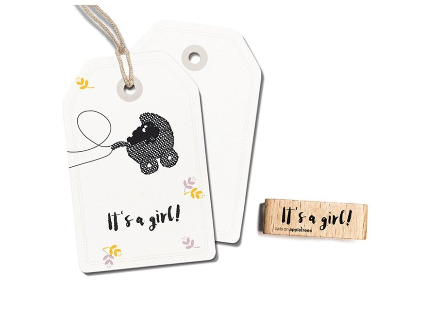 Stempel Tekst 'It's a girl!' 2398