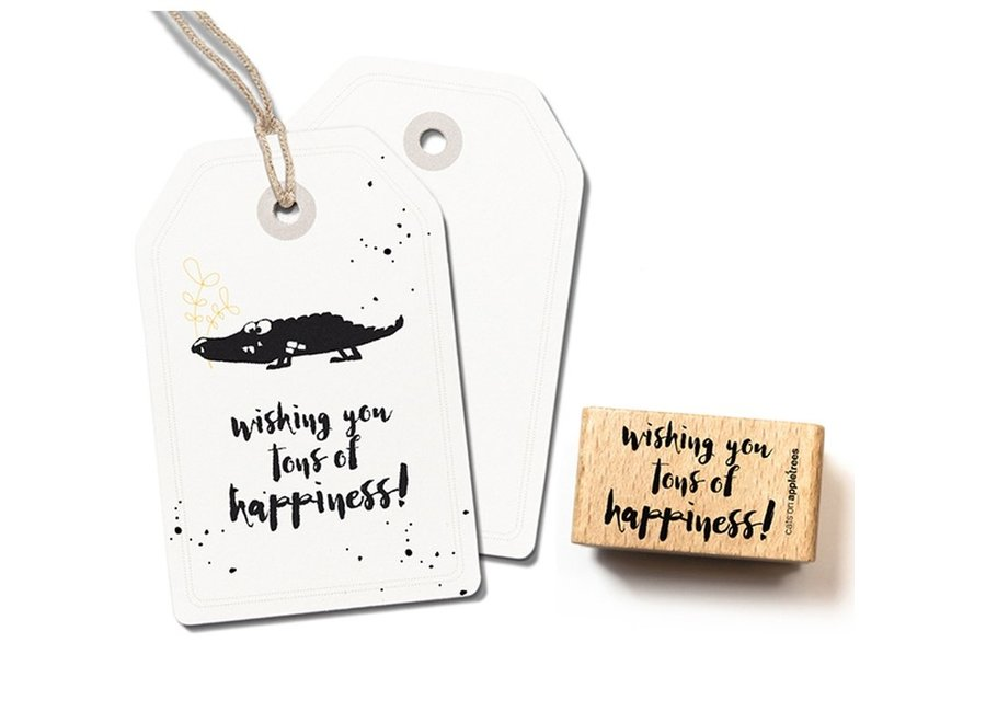 Stempel Tekst 'Tons of happiness' 2399