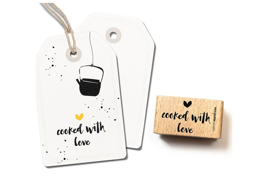 Stempel Tekst 'cooked with love' 2402